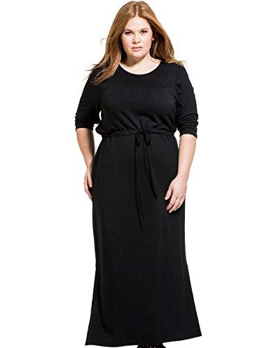 Scoop Neck Terry Dress - 7