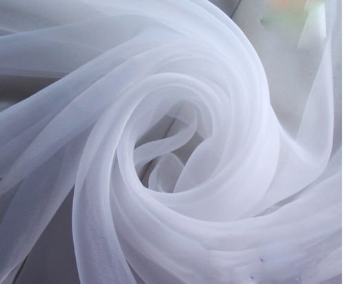 Ceiling Draping White Sheer Ceiling Curtain Voile Chiffon Ceiling Drape 10 Ft W X 30 Ft H Panel Wedding by Tablecloth Market (Image #2)
