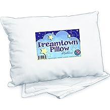 Dreamtown Kids Toddler Pillow With Pillowcase, White, 14x19
