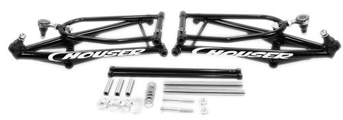 Houser Racing 04-05 Yamaha YFZ450 Slicast Regular Travel A-Arm Kit (+2) (Gloss Black)