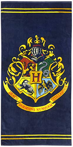 Terry Harry Potter Towels - Jay Franco Harry Potter Classic Crest Kids Bath/Pool/Beach Towel, Absorbent Fade Resistant Cotton, Measures 28 inch x 58 inch, Dark Blue