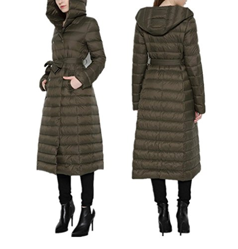 Package L Section Jacket Color Snowy Solid Winter BROWN Pocket Women Hooded Coat Coats Warm And Lightweight Autumn Down Long Slim Jacket Zipper HqCfB1vw8x