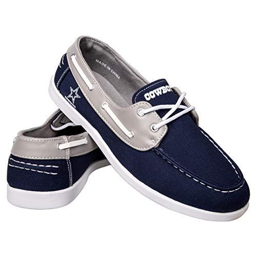 FOCO NFL Dallas Cowboys Men's Side Logo Canvas Footwear, Team Color, X-Small (Renewed) ()