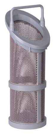 Hayward Flow Control BS22001/16 Series SB and DB Extra/Replacement Basket for 1-1/4'', 1-1/2'' and 2'' Strainer, CPVC, 1/16'' Perforation