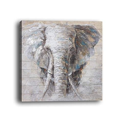 - WOWDECOR Wall Art Modern Canvas Prints Painting - Animal Elephant Giclee Pictures Printed on Canvas, Wall Decor for Home Living Room Bedroom - DIY Frame (Elephant D, Small)