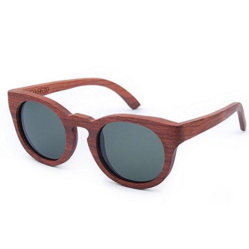 lente de UV de mano gafas sol de hechas Adult oscura a protección de retro los de calidad Ojos madera TAC Eyewear la hombres de gato sol marrón conducción Gafa sol de de polarizada Gafas de alta gafas AqOxSwqRH