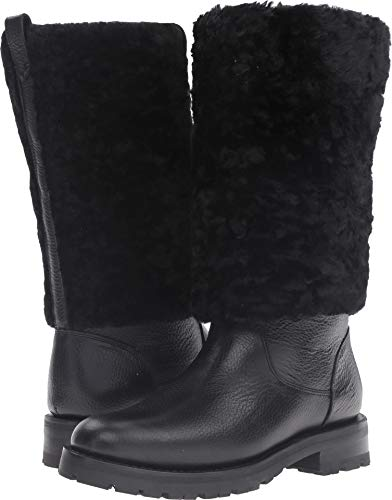FRYE Women's Natalie Cuff Lug Winter Boot, Black, 9 M US