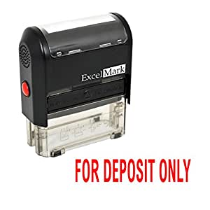FOR DEPOSIT ONLY Self Inking Rubber Stamp - Red Ink