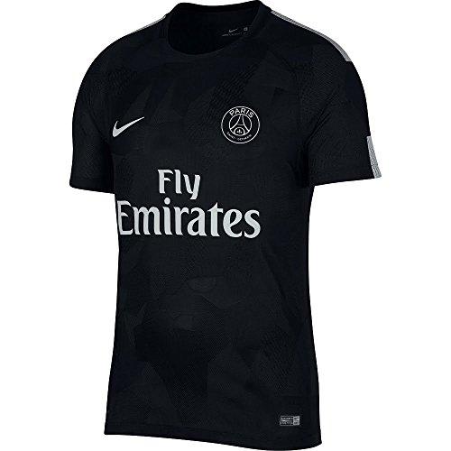 Nike PSG M Nk Vapor Mtch JSY SS 3R Camiseta 3ª Equipación Paris Saint Germain 17-18, Hombre, (Negro/Pure Platinum), XL: Amazon.es: Deportes y aire libre