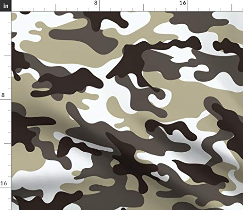 Green Camouflage Fabric - Camouflage Camping Natural Camouflage Camo Urban Army White Camo Urban Camo Print on Fabric by The Yard - Satin for Sewing Lining Apparel Fashion Blankets Decor -