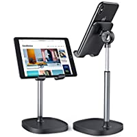 Cell Phone Stand, Angle Height Adjustable LISEN Phone Stand For Desk, Thick Case Friendly Phone Holder Stand For Desk, Compatible with All Mobile Phones,iPhone,Switch,iPad,Tablet(4-10in)