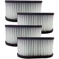 Think Crucial 4 Replacements for Hoover Foldaway HEPA Style Filter Fits Foldaway & Turbo Power, Compatible With Part # 40130050, Washable & Reusable