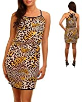 Giraffe Print Dress in Brown