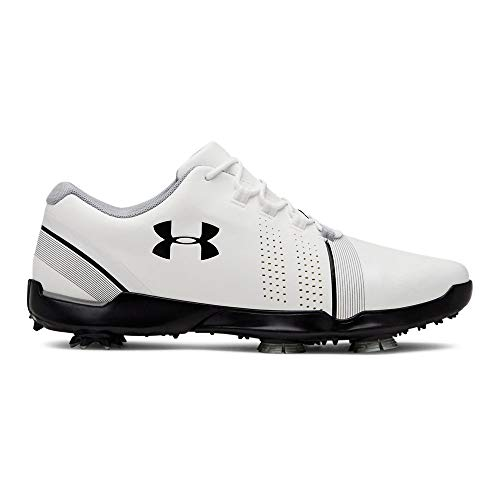 (Under Armour Boys' Spieth III Jr. Sneaker White (100)/Overcast Gray 6.5 M US Big Kid)