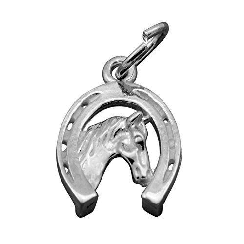 Horseshoe Horse Head Charm - 3