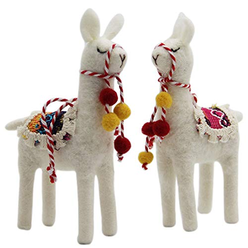 - Juegoal Felt Toys Animal Alpaca,Handmade Wool Ornament Kids Gift Home Table Decoration,2 Pack