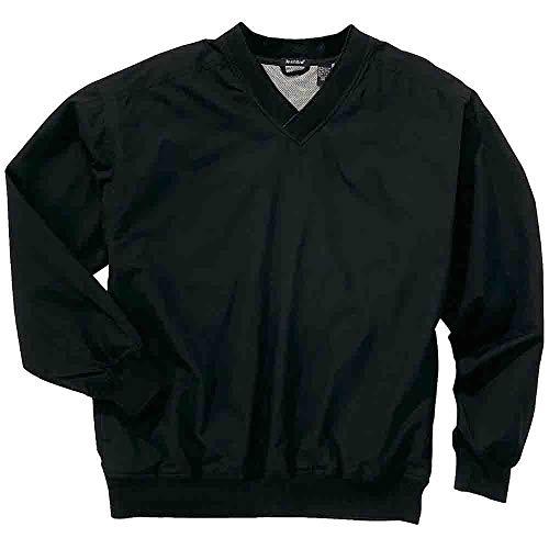 (Rivers' End Mens Lined Microfiber Windshirt Athletic Jacket Black XXL)