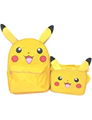 Pokemon Pikachu Large Backpack with Matching Lunchbox Lunch Bag