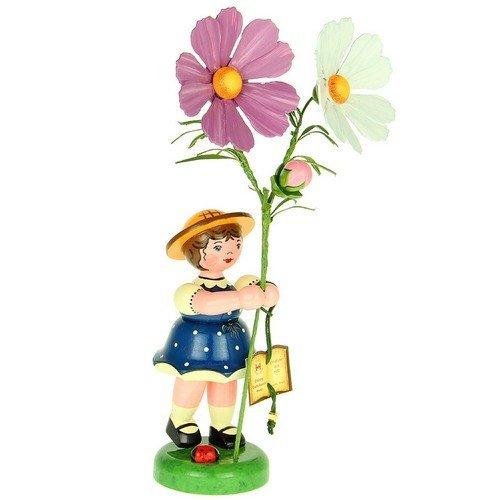 Hubrig Volkskunst Blumenkinder Blumenmädchen mit Cosmea  Höhe 24 cm