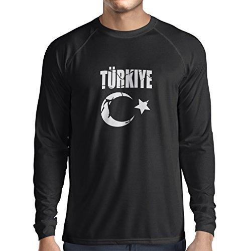 Long Sleeve t Shirt Men Turkiye Cumhuriyeti Turkey Coat Of Arms, Political Shirts (XX-Large Black - Bush Tory