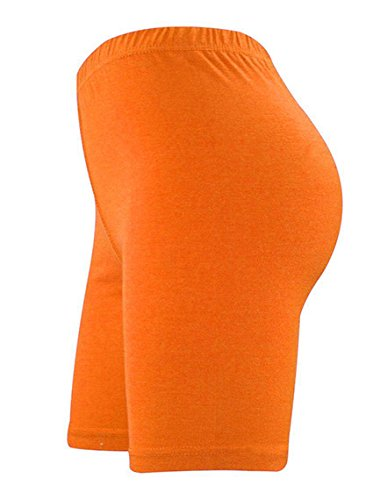 Lunghi Pantaloncini Da Sopra Donna Elegance Cotone Fin Orange Al Elasticizzato E Sportivi Ginocchio In Lycra Hqdxwz4