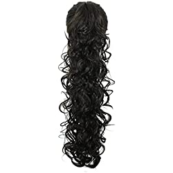 """S-ssoy 31""""(78cm) Women's Curly Pony Tail Hair Piece Synthetic Claw Clip Ponytail Wavy Long Curled In Hair extension Extensions Long/Voluminous Wig Hairpieces For Women Girls Lady,2#"""