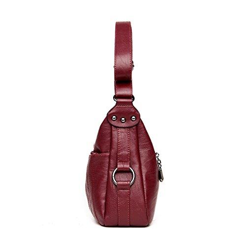 Satchel En Bandoulière Sac à purple Tote à Cuir Mini Sac Pu Bag Stripe Crossbody Multicolore Bag Mode Main Lady wxRqEXPI