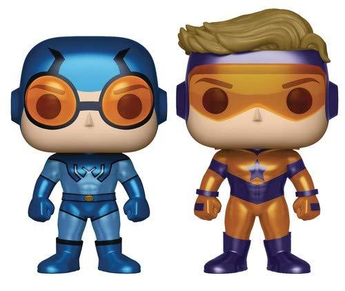 Vinyl Figures Metallic Versions Funko Pop Heroes: DC Heroes Booster Gold /& Blue Beetle Vinyl Figure 2-Pack AUG179002 Pop