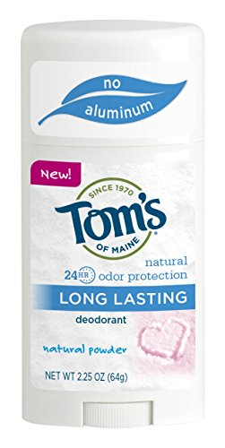 Tom's of Maine Powder Long-Lasting Stick Deodorant, 2.25 Ounce (Pack of 6)