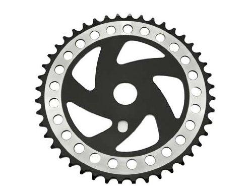 Sprocket Cw358 44t 1/2 X 1/8 クロム/ブラック 自転車、自転車、ローライダー、ビーチクルーザー、ストレッチバイク、リムス、チョッパークルーザー用   B00GCI2JJO