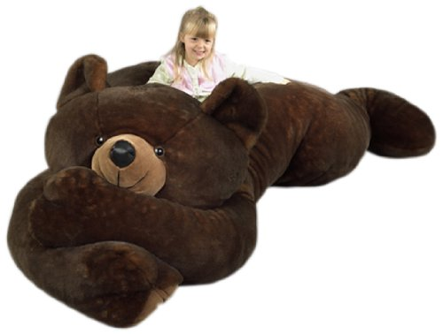Purr-Fection Jumbo Minky Brown Bear 90