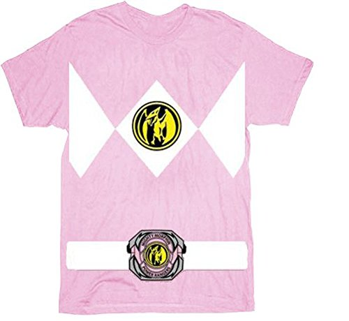 The Power Rangers Pink Rangers Costume Adult T-shirt (XXX-Large)