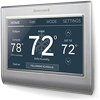 honeywell home wi fi smart color programmable thermostathoneywell home wi fi smart color programmable thermostat, customizable programming, alexa and apple