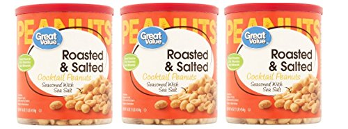 Great Value Roasted & Salted Cocktail Peanuts, 16 Oz, Pack of (Roasted Salted Stock)
