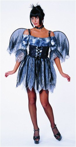 Graveyard Spirit Fairy Costume Set with Wings Adult Small 4-6 ()