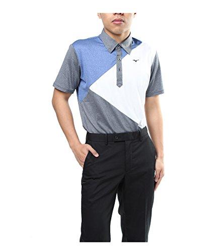 ミズノ ゴルフウェア ポロシャツ 半袖 エンブレム 52JA8051 09 L