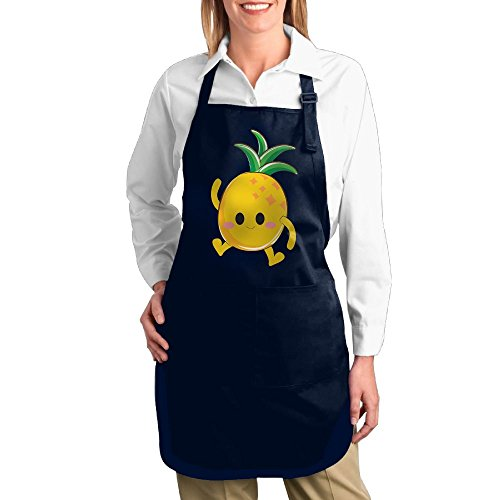 Dogquxio Cute Pineapple Kitchen Helper Professional Bib Apron With 2 Pockets For Women Men Adults (Fanta Girl Costume Set)