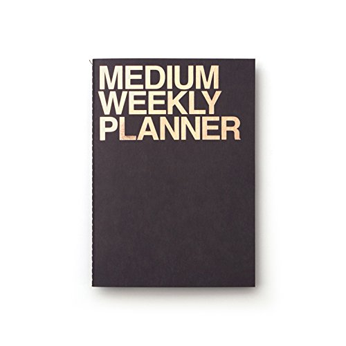 JSTORY Medium Personal Wide Spaces Weekly Planner One Size Black