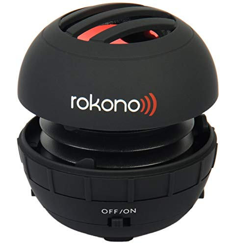 Rokono BASS+ Mini Speaker for iPhone / iPad / iPod / MP3 Player / Laptop - Black (The Best Iphone Speakers)