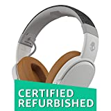 Skullcandy Crusher Bluetooth Wireless Over-Ear Headphone with Microphone, Noise Isolating Memory Foam Gray/Tan (Certified Refurbished)