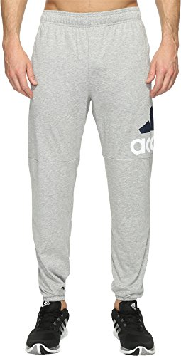 Sweatpants Cotton Blend (adidas Men's Essentials Performance Logo Pants, Medium Grey Heather/White/Black, XX-Large)