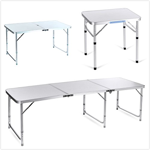 Binxin 6ft Portable Folding 3in1 Table Outdoor Camping Aluminum Table Various Specifications (Type 3)