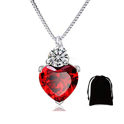 IDOXE Queen of Hearts Necklace Evie Red Heart Toy Princess Halloween Accessories Jewelry Valentines Gift for Her