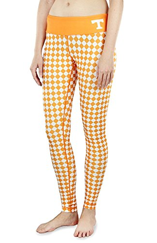 NCAA Womens Tennessee Volunteers Thematic Print Leggings, Orange
