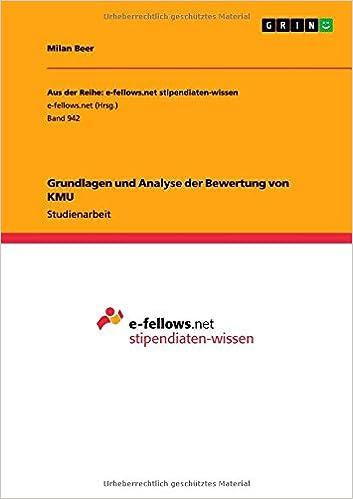 Book Grundlagen Und Analyse Der Bewertung Von Kmu