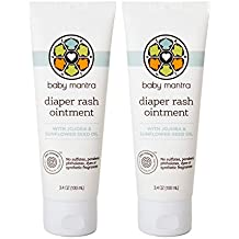 Baby Mantra Diaper Rash Ointment - EWG Verified Diaper Cream with Zinc Oxide - Best for Newborns, Babies, and Toddlers with Sensitive Skin - 3.4 Ounce Tube, Pack of 2