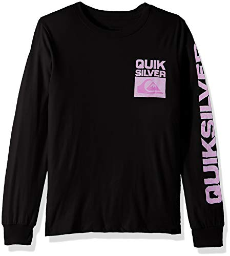 (Quiksilver Boys' Big Pixel Screen Long Sleeve TEE, Black, M/12)