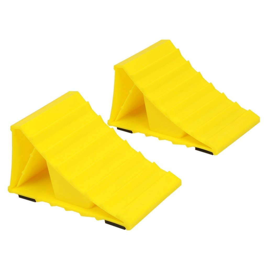 NSHUN 2 Piece Wheel Chock, Super Wheel Chock, Non Slip Base, Helps Keep Your Trailer in Place for Most Tyre Sizes, Easy to Set Up