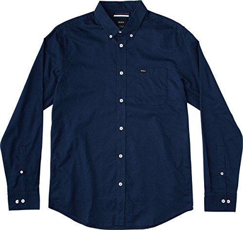 rvca-mens-thatll-do-oxford-long-sleeve-woven-shirt-federal-blue-x-large