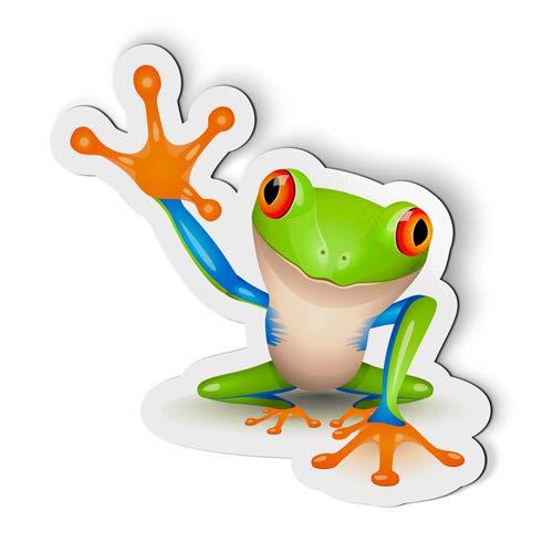 Fridge Magnet Frog - AK Wall Art Frog High Five - Magnet - Car Fridge Locker - Select Size